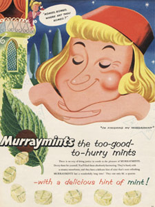 1955 Murraymints romeo - vintage ad