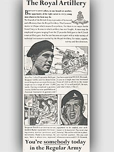 1954 Army recruitment - vintage ad