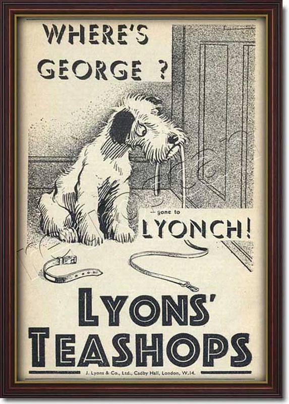 1935 vintage Lyons Tea Shops advert