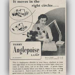 1952 Anglepoise Lamps - vintage ad
