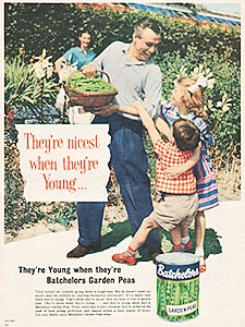 1958 ​Batchelor's Peas - vintage ad