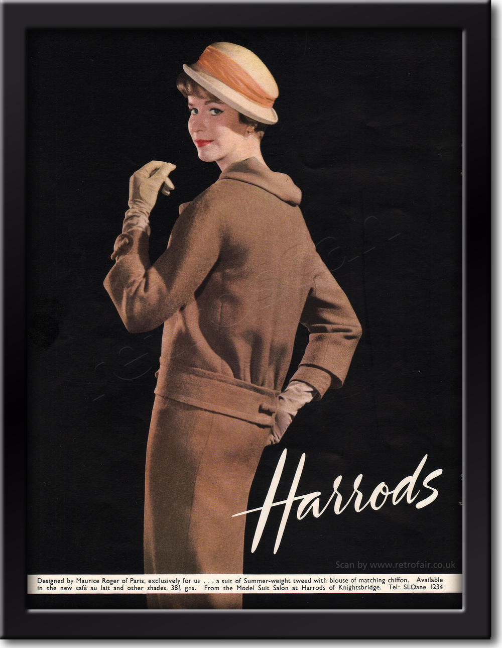 1958 Harrods framed preview
