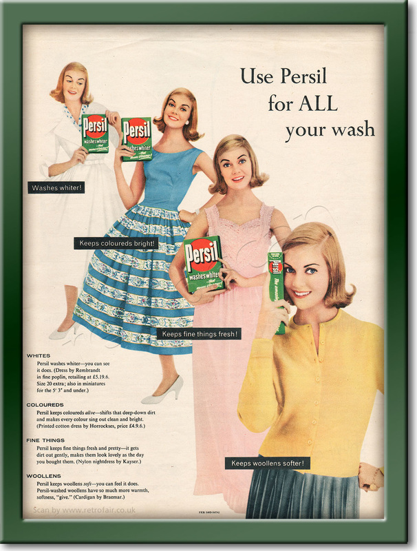 1958 Persil Washing Powder - framed preview retro
