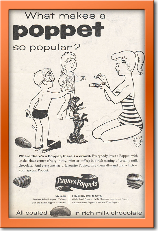 1958 Poppets vintage ad framed preview