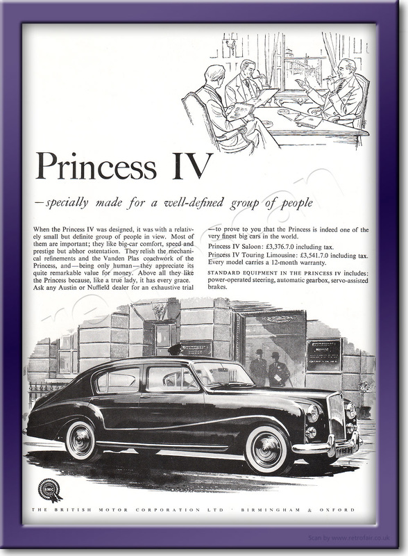 1958 Austin Princess IV - framed preview retro
