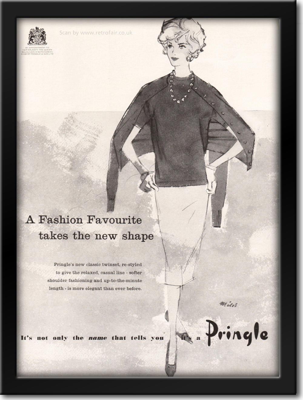 1958 Pringle Knitwear framed preview