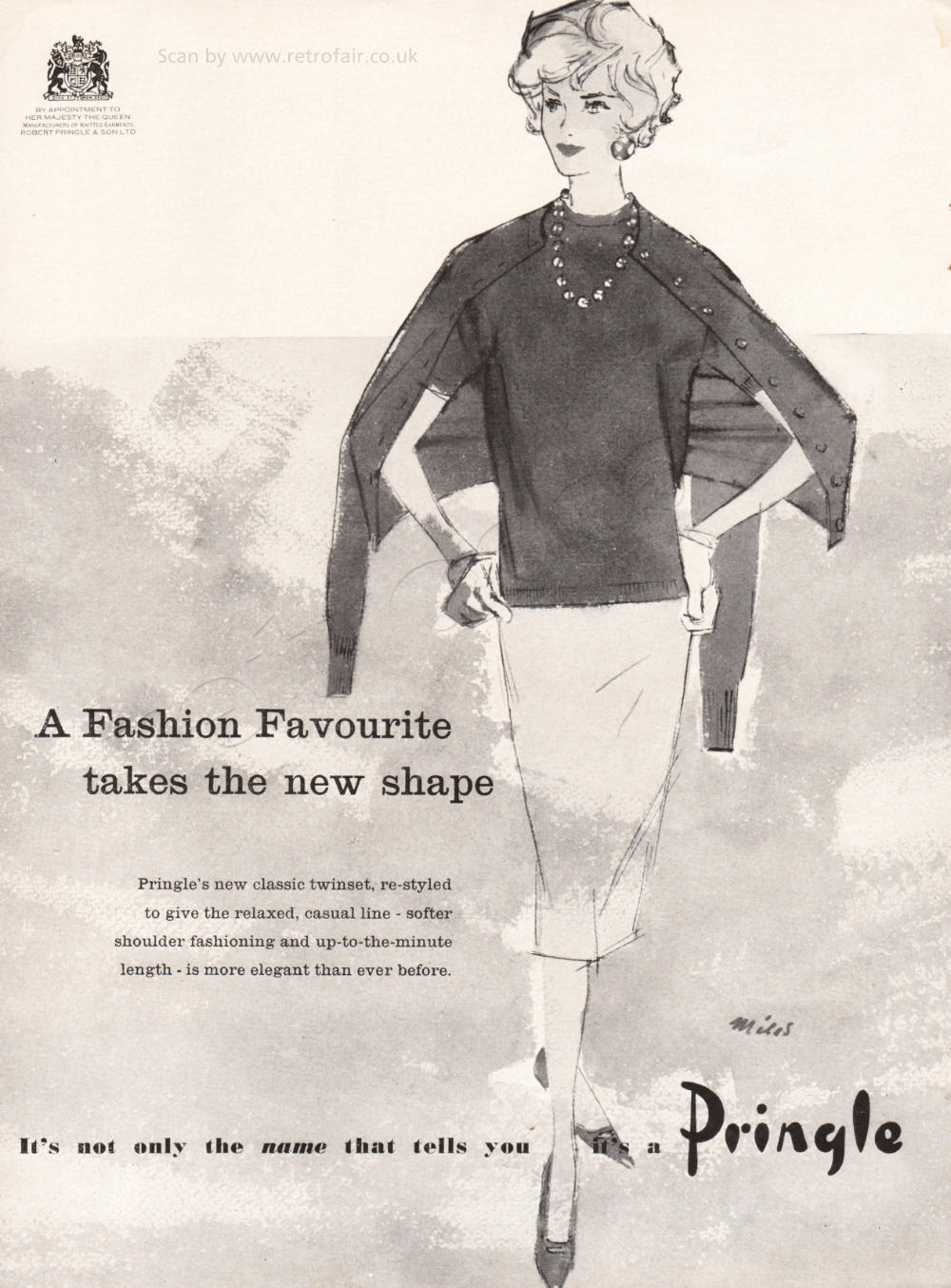 1958 Pringle Knitwear unframed preview