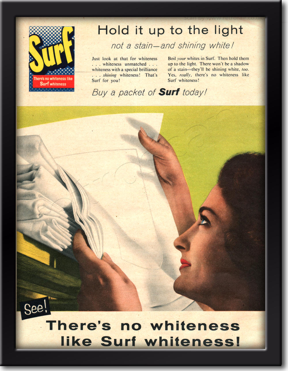 1958 Surf Washing Powder framed preview