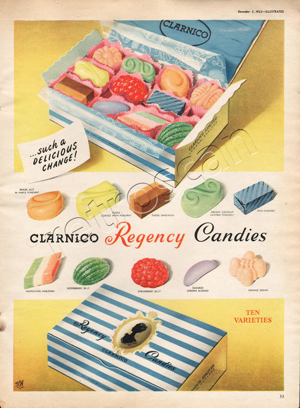 1953 Clarnico Regency Candies - unframed