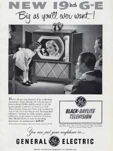 1951 General Electric Daylite Television  Vintage Ad