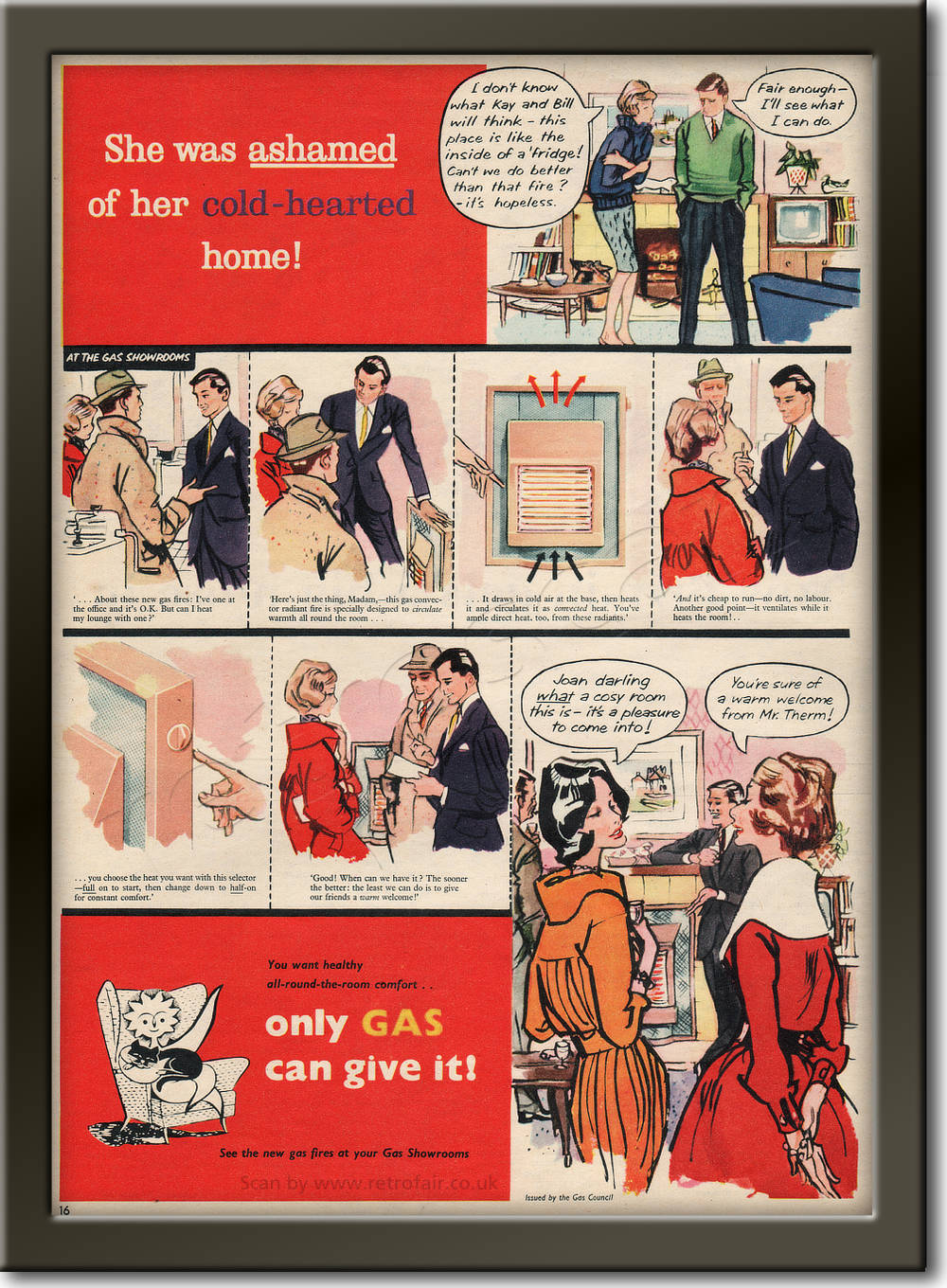 1959 Gas Council - framed preview retro