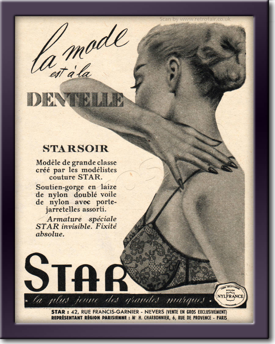 1959 Star Lingerie - framed preview vintage ad