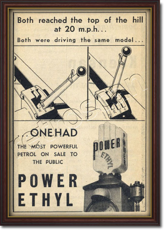 1936 vintage Power Ethyl advert