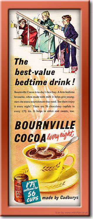 1952 Bournville Cocoa - framed preview vintage ad