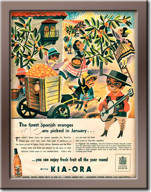 1951 KIA-ORA - framed preview vintage ad