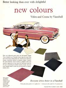 1958 Vauxhall Velox retro advert