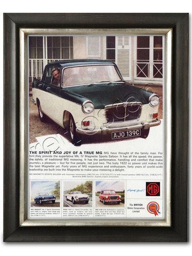 retro MG Magnette advert