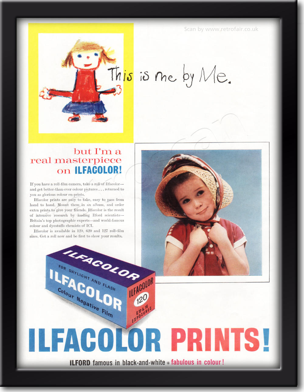 1961 Ilford Colour Prints - framed preview retro