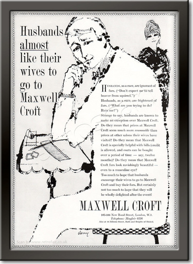 1961 Maxwell Croft - framed preview retro