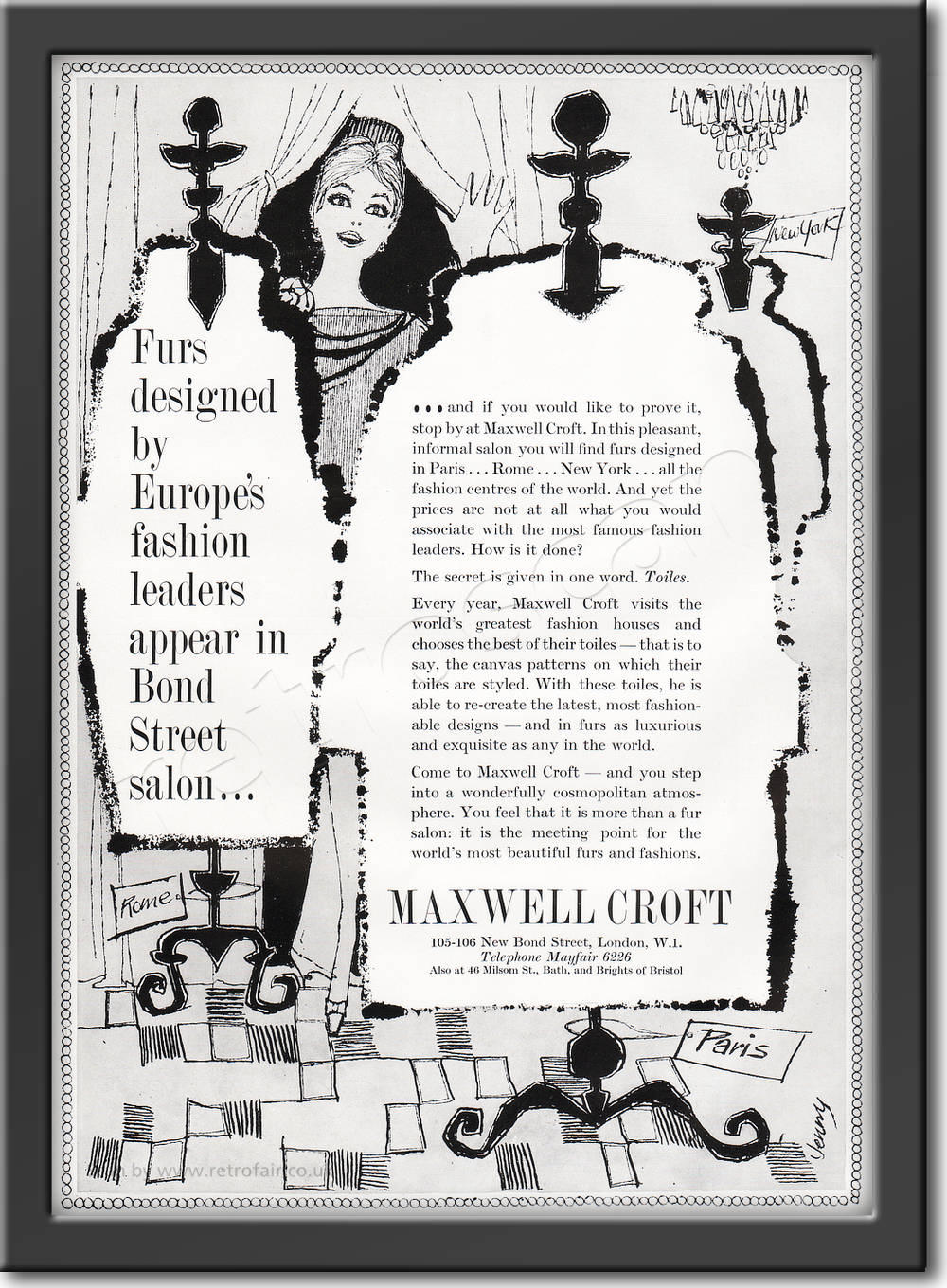 1961 Maxwell Croft framed preview retro