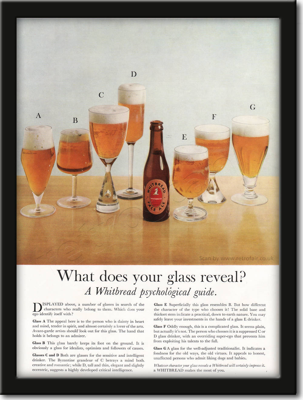 1961 Whitbread Pale Ale - framed preview retro