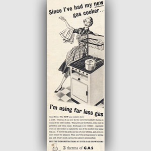 1953 Gas Council 'New Cooker' - vintage ad