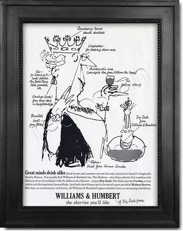 1963 Williams & Humbert advert