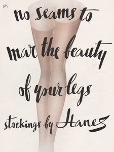 vintage Hanes stockings advert