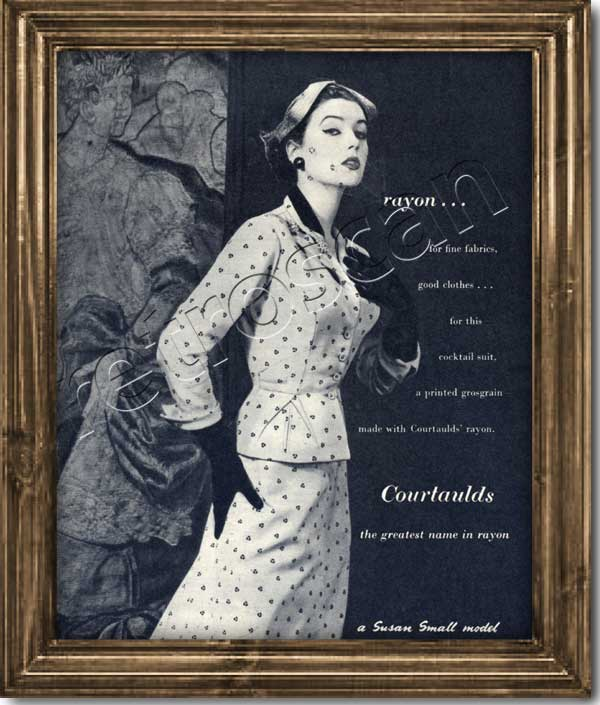 1953 Courtaulds retro advert