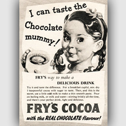 1951 Fry's Cocoa - vintage ad