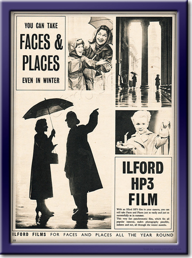 1953 Ilford HP3 Film - framed preview retro