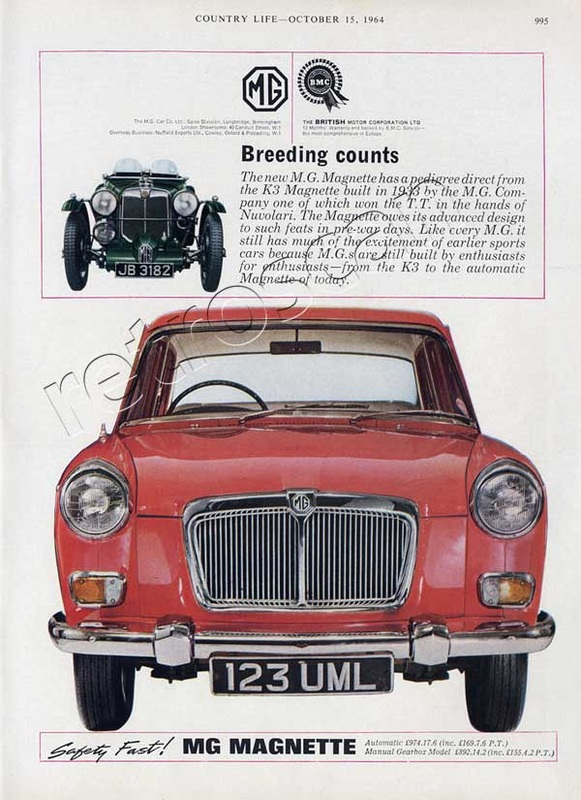1964 MG Magnette Sports Car