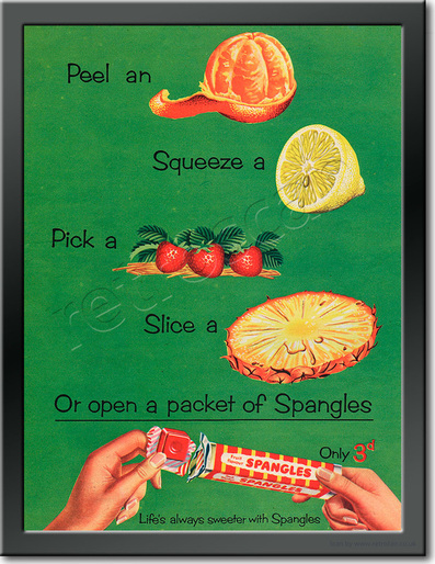 1955 Spangles - framed preview retro