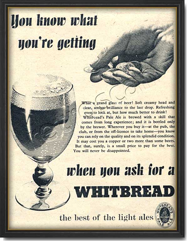 1953 Whitbread Beer - Vintage Ad
