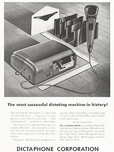 1951 Dictaphone - vintage ad