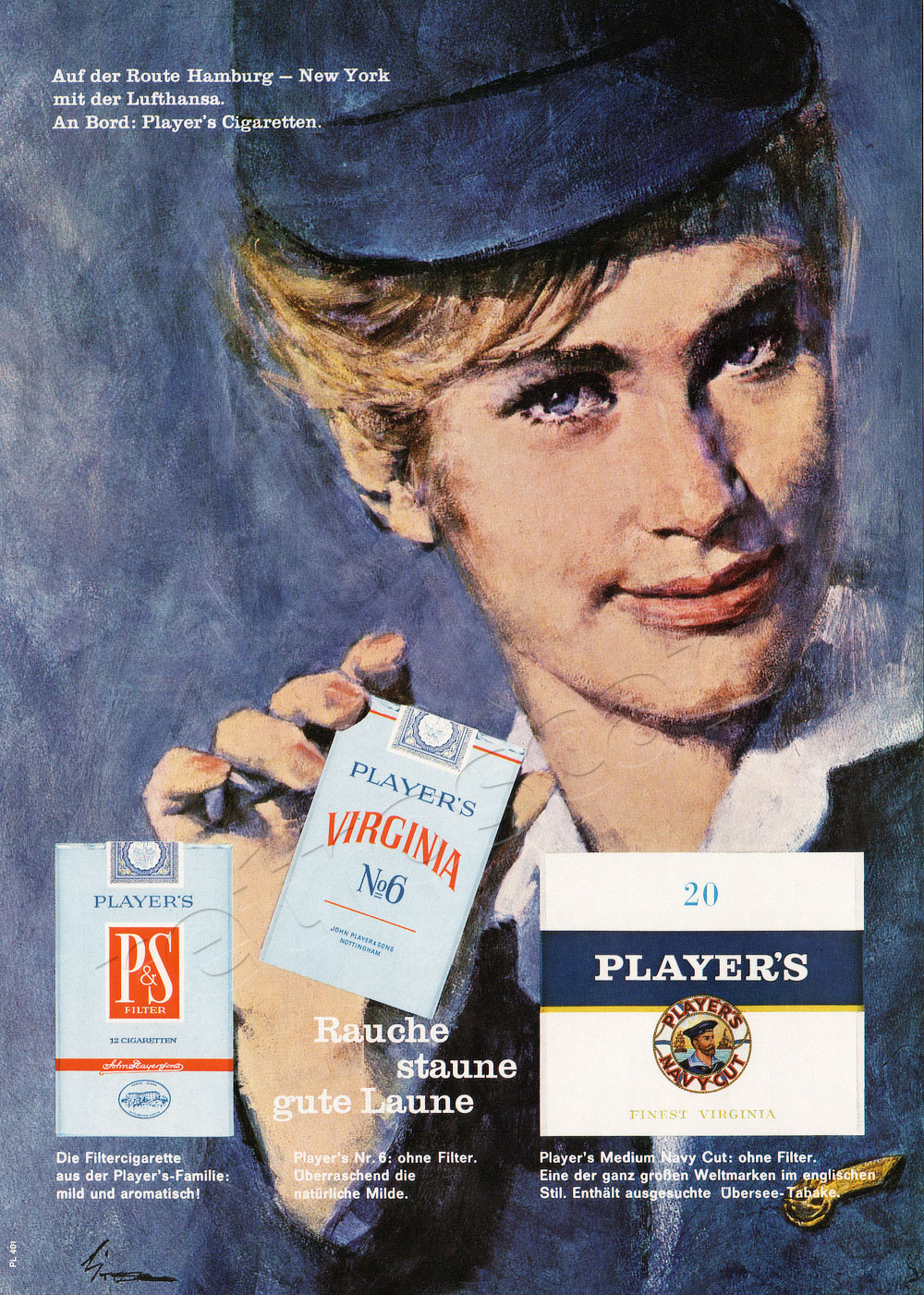 1964 Player's Cigarettes - unframed vintage ad