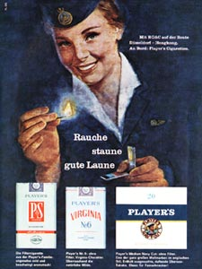 1964 Players Cigarettes  - vintage ad