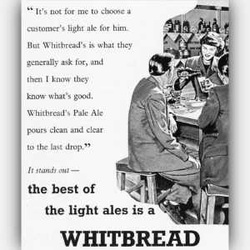 1952 ​Whitbread vintage ad