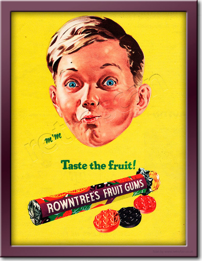 Retro 1955 Rowntree's Fruit Gums Advert