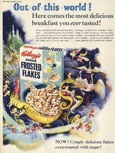 1954 Kellogg's Sugar Frosted Flakes - vintage