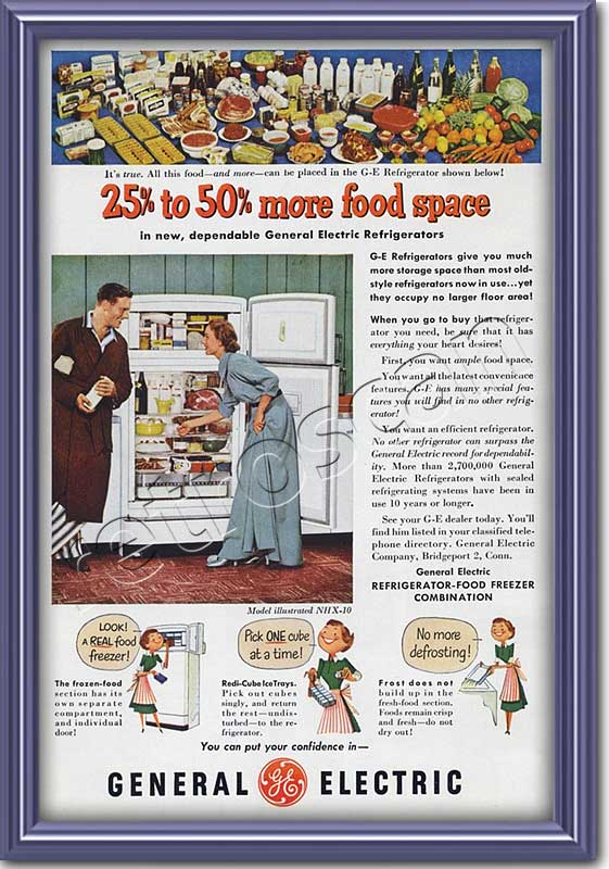vintage 1951 GEC Food Freezer