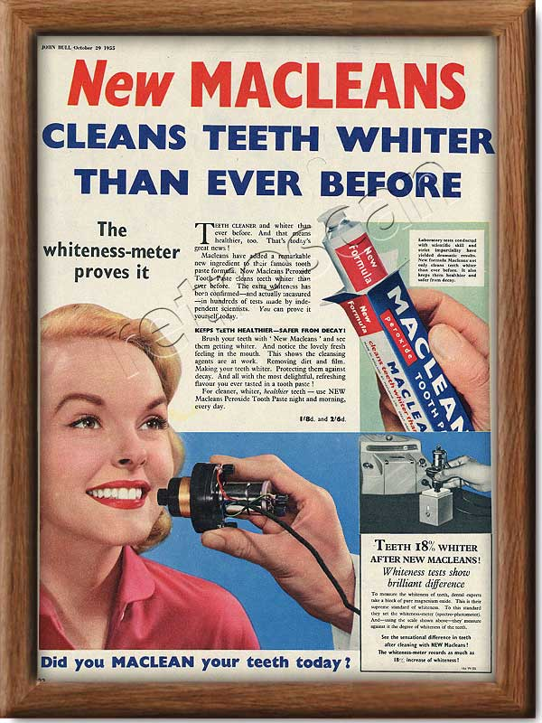 1955 Macleans Toothpaste - framed preview