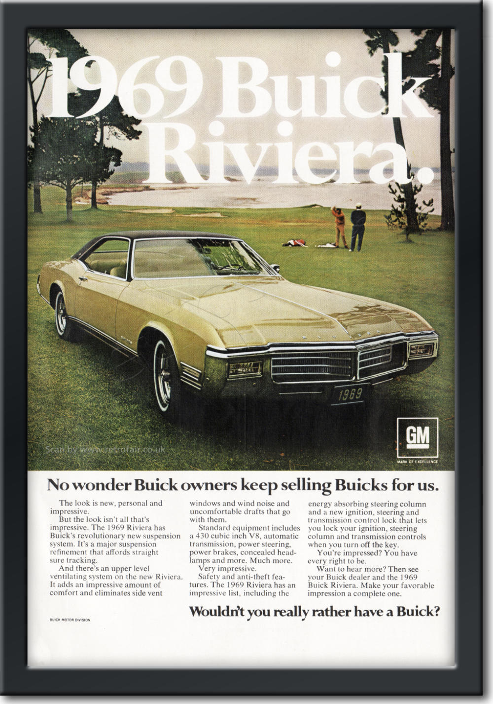 1969 Buick - framed preview vintage ad