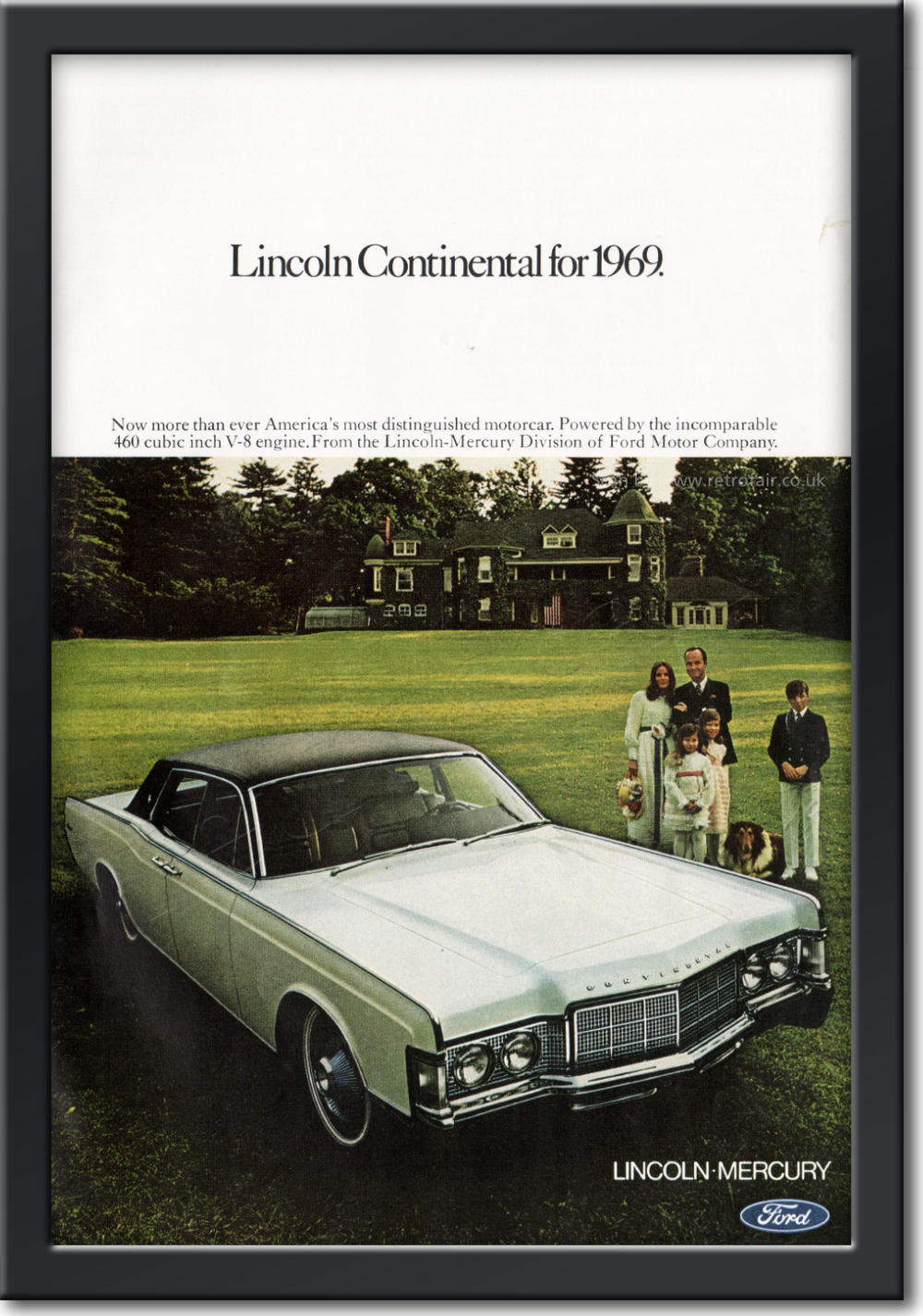1968 Lincoln - framed preview vintage ad