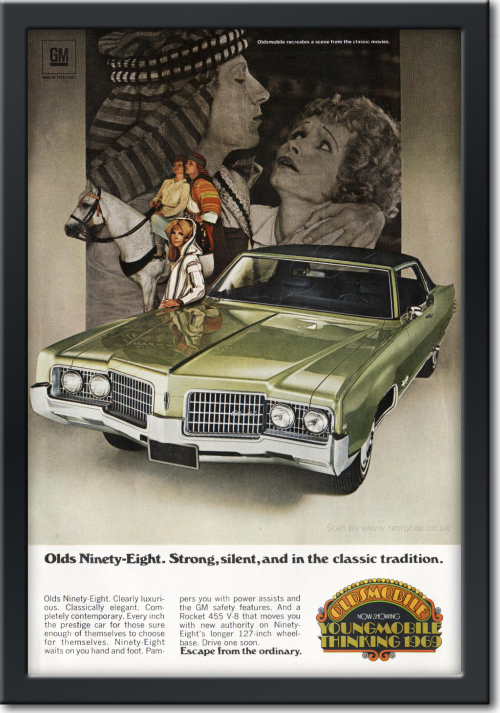 1968 Oldsmobile - framed preview vintage ad