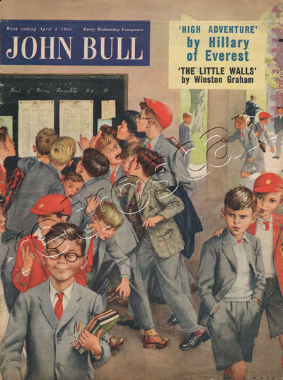 1955 April John Bull Vintage Magazine School Exam Results  - unframed
