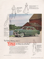1949 Ford Motors vintage ad