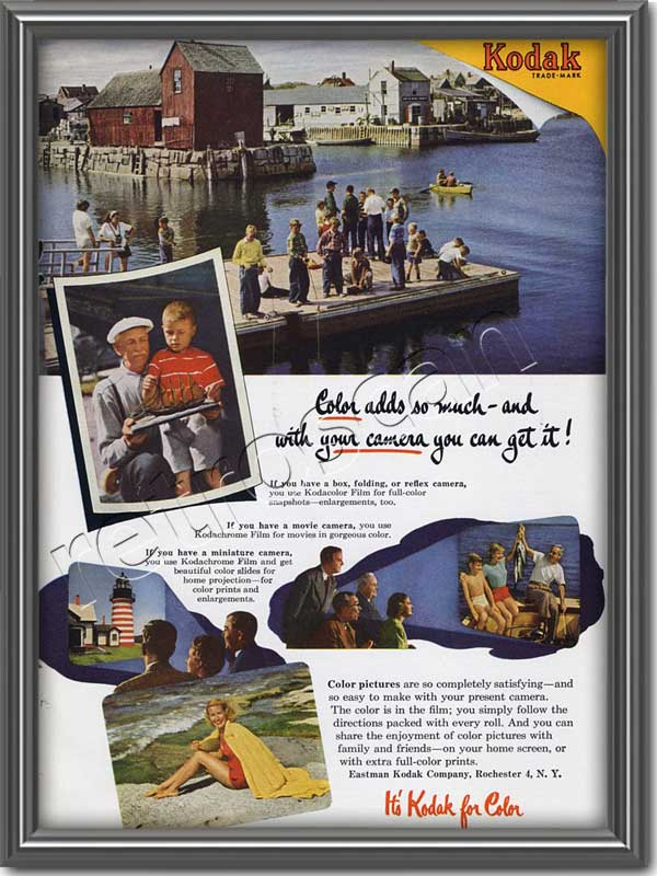 1952 vintage Kodak advert