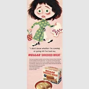 1954 Welgar Shredded Wheat - vintage ad