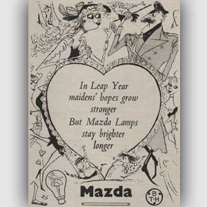 1952 Mazda Lamps - vintage ad